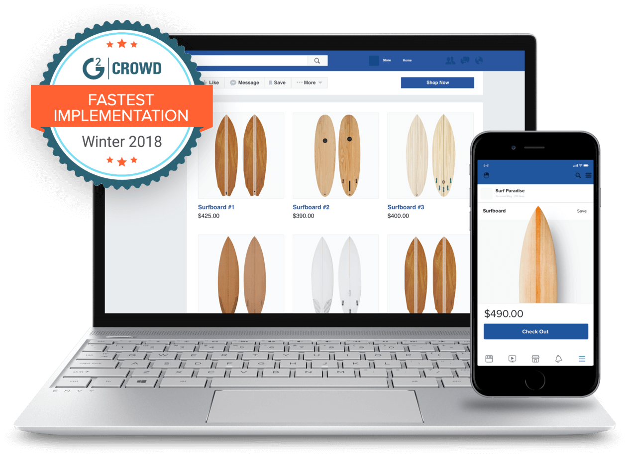 Start your own Facebook Store in minutes, not hours.