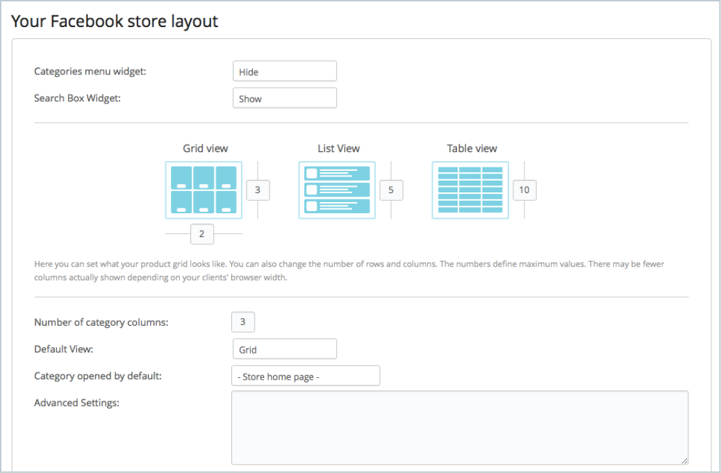 Ecwid e commerce widgets ecwid 101 how to create an online store edit the layout if you wish you can rearrange the layout of your store if you wish you can modify the amount of products that are displayed fandeluxe Gallery