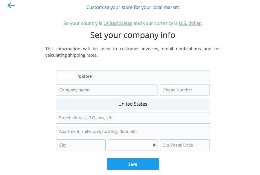 Set Your Company Info