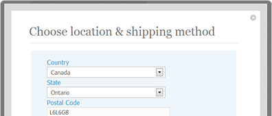 Configure shipping rules by geographic location