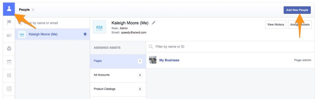 Adding people to Facebook Business Manager