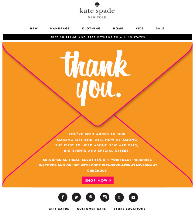 How To Write A Welcome Email That Sells - Special offer email template