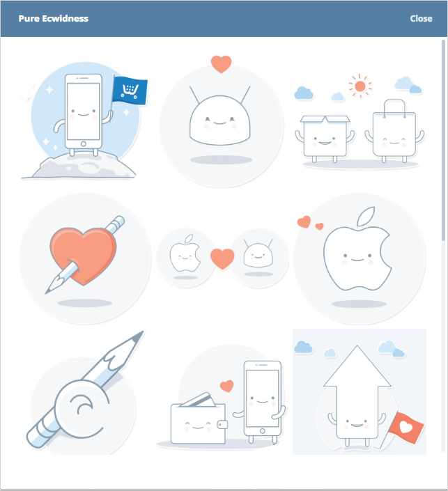 Cute Ecwid stickers for Telegram :)