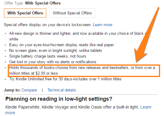 the product description clearly mentions the affordability of Kindle books
