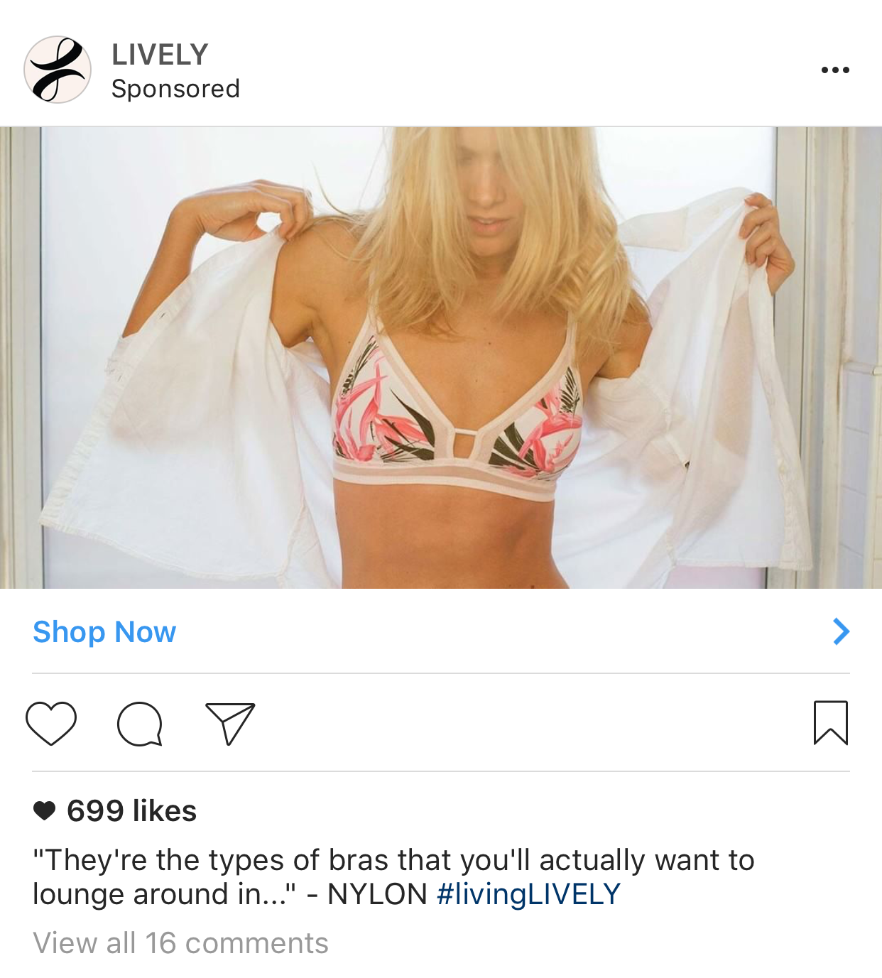 The Lively Instagram Ad