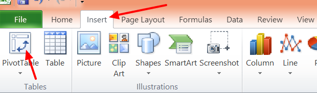 3 - Excel Pivot Button