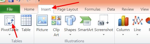 3 - Excel Pivot Button