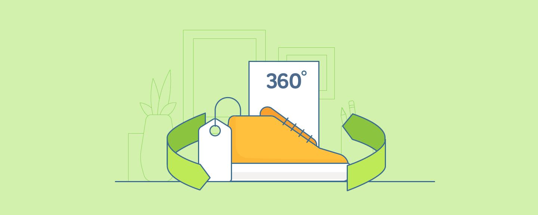 تور نمایشی 360 محصول کیف و کفش