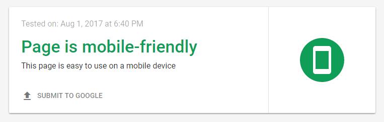Mobielvriendelijke test door Google