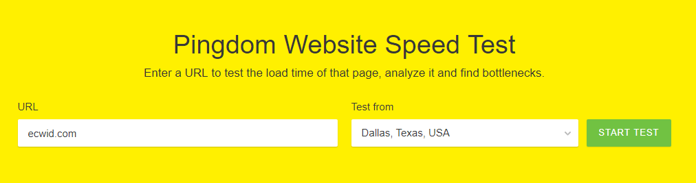 checking website speed
