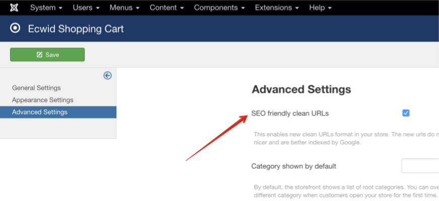 New SEO friendly URLs in Ecwid for Joomla