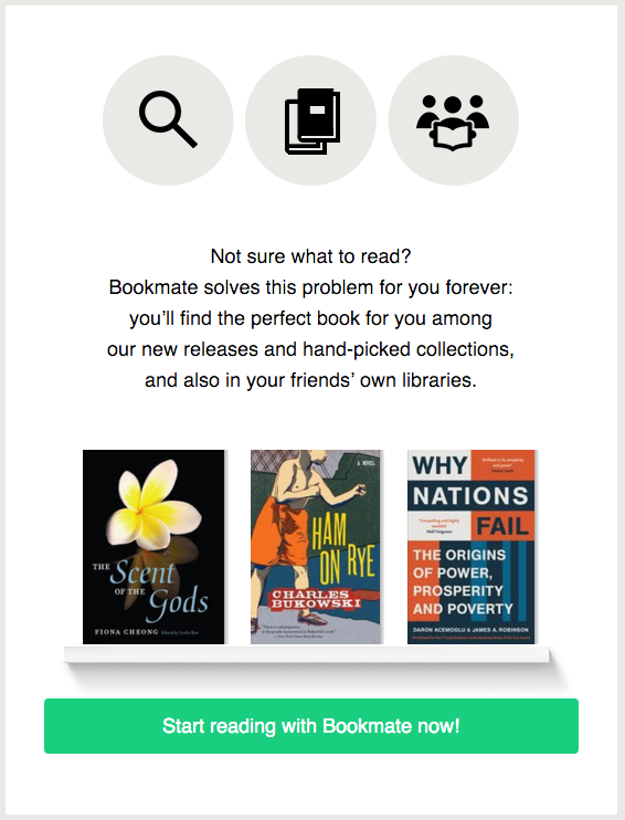 welcome email from Bookmate