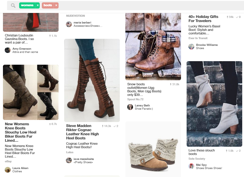 Pinterest pics of how people use your products in daily life