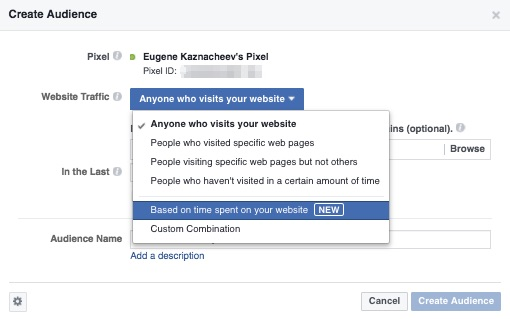 Targeting FB ads for your store visitors