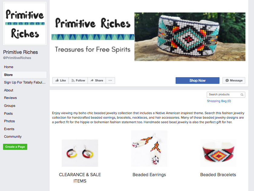 Primitive Riches auf FB