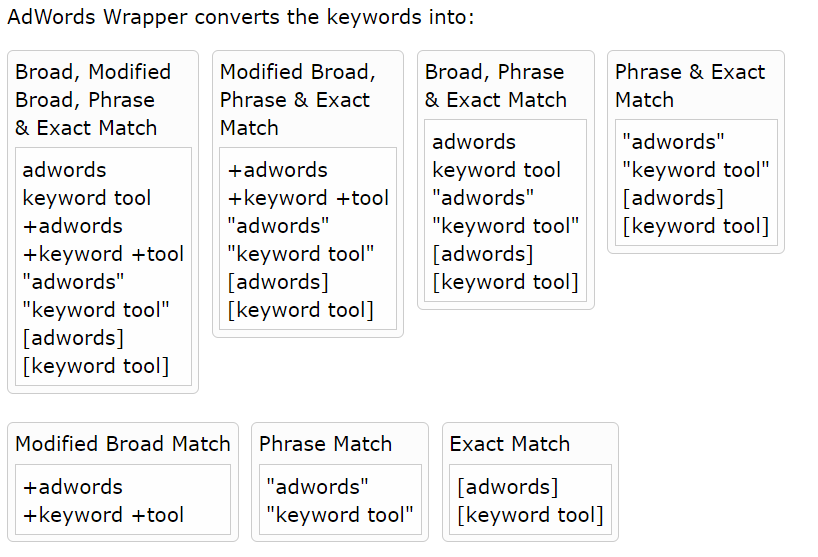 wrapper AdWords