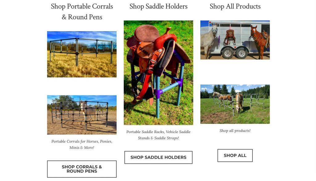 Betaalbare Portable Products Ecwid store voorbeeld