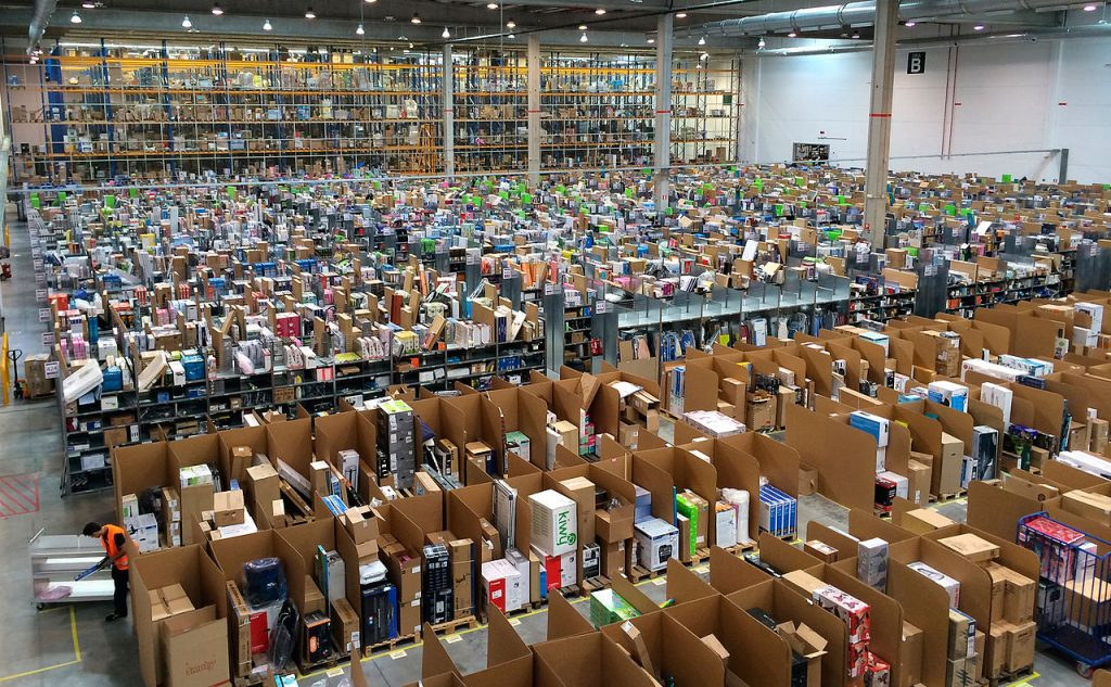 One of Amazon's massive fulfillment centers