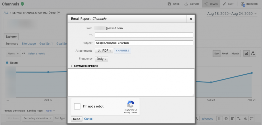 Google Analytics reports emailing automation