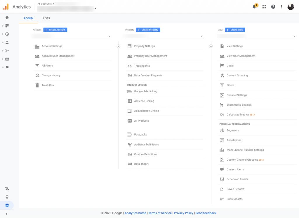 admin analisis google