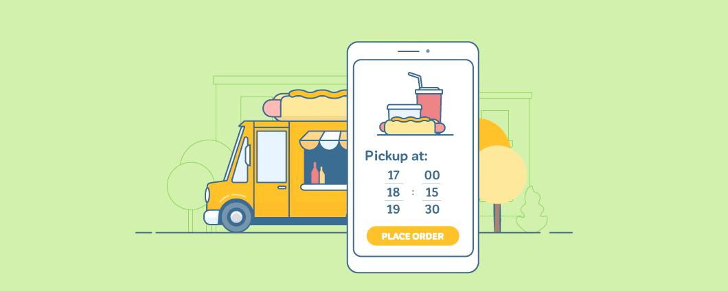 restaurants, Nu kunt u vragen om Pickup Datum en tijd in bij Kassa