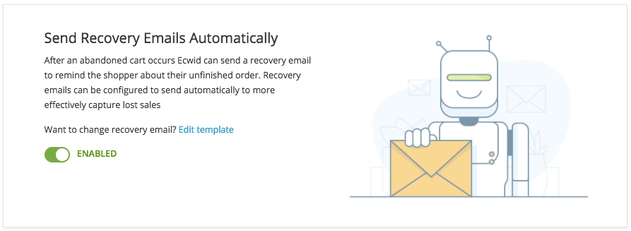 Automatic recovery emails