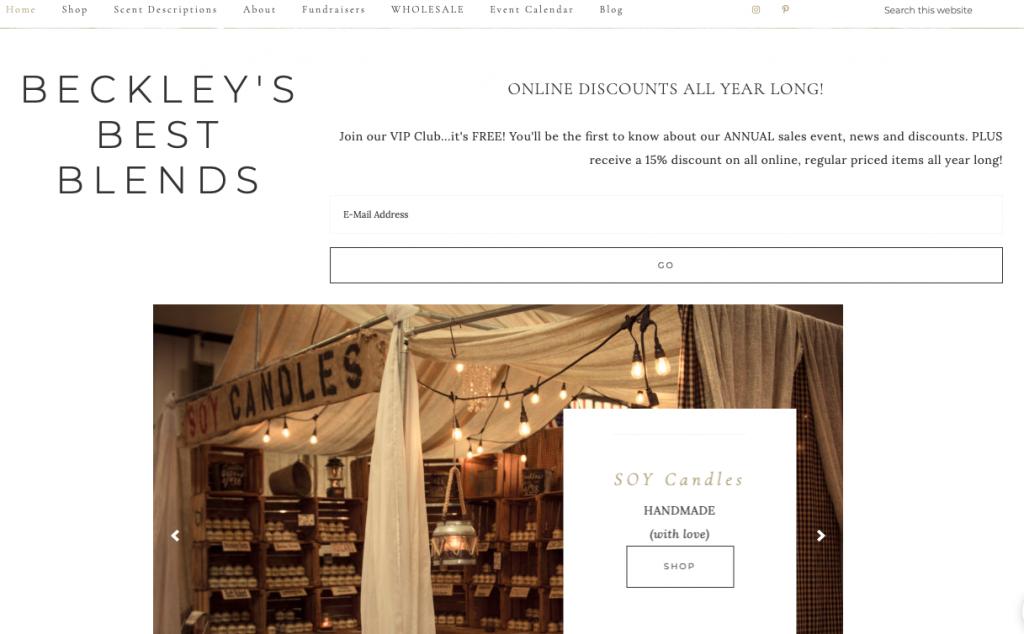 Beckley's Best Blends Ecwid storefront