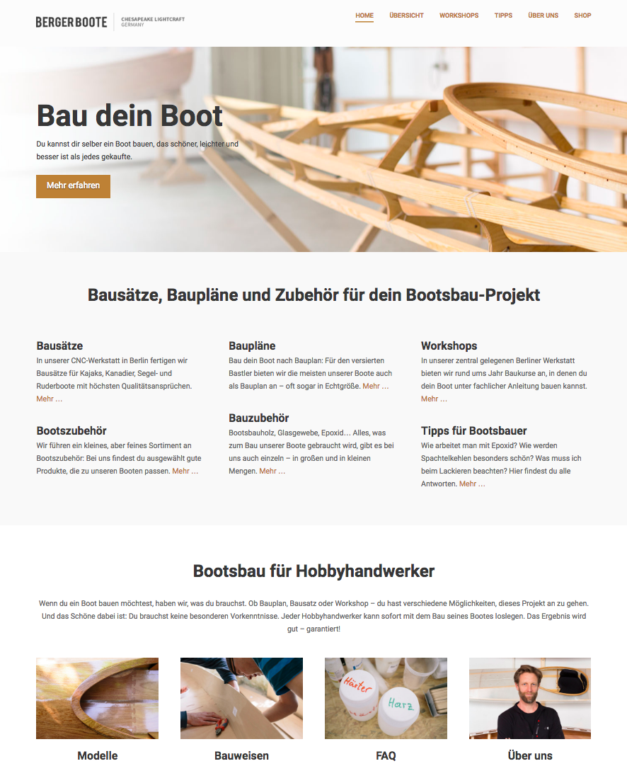 Online store Berger Boote