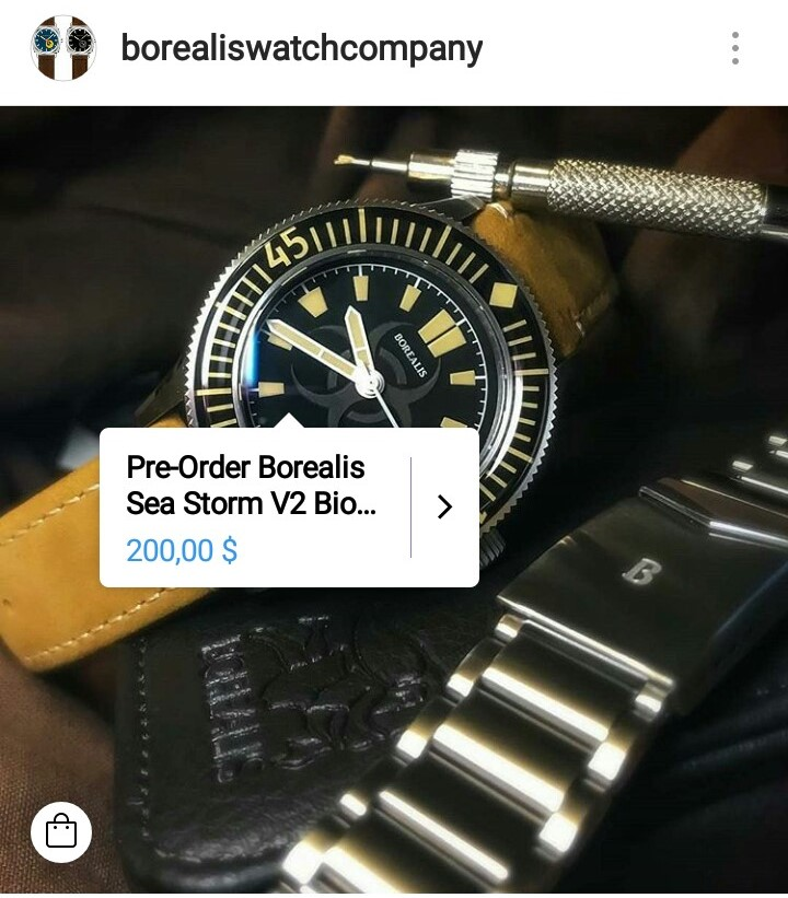 Borealis Watch Company Instagram