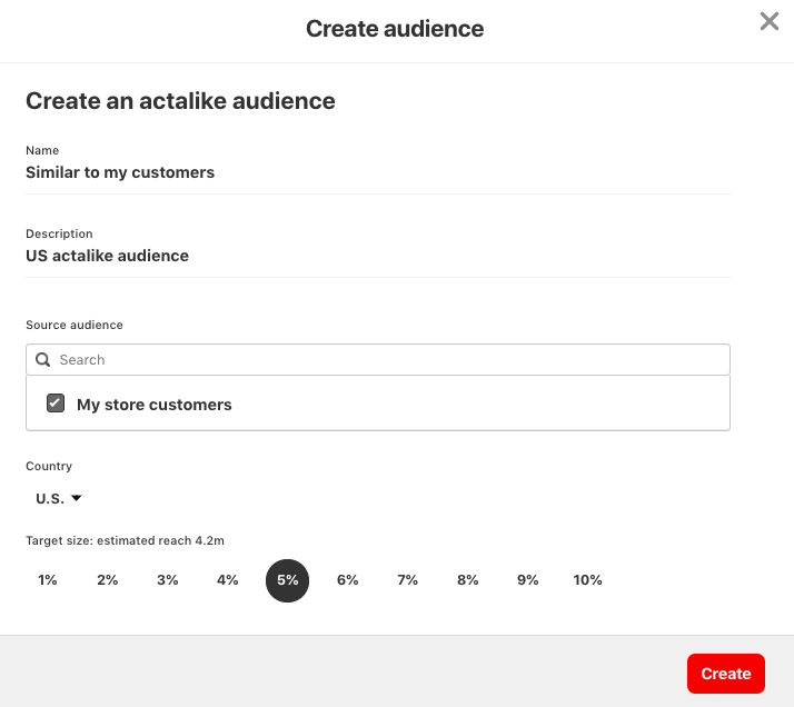 Building audiences with Pinterest tag 1