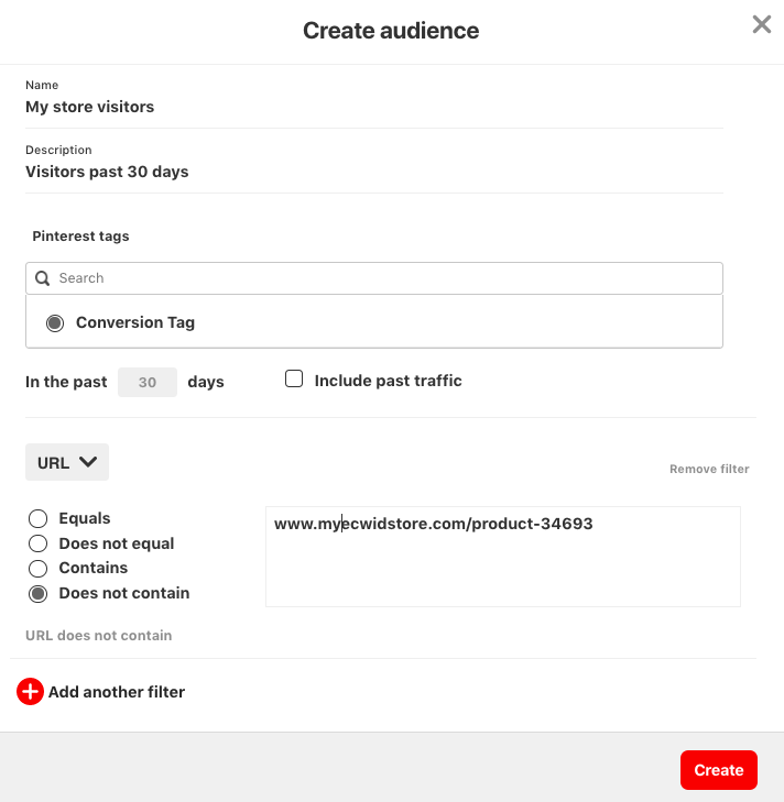 Building audiences with Pinterest tag