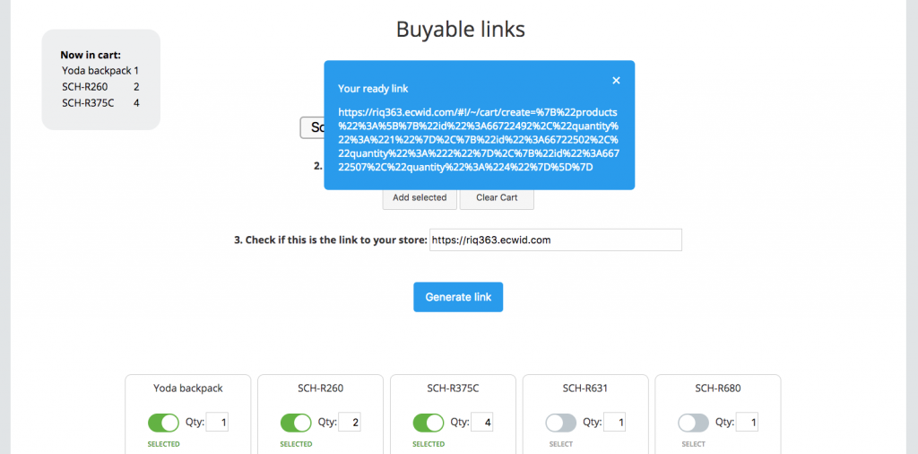 Buyable Links