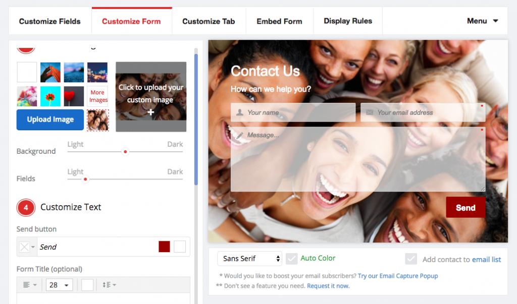 Einfach Kontaktformular App