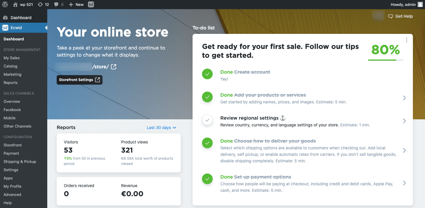 connect your store to your WordPress site at this time in a snap