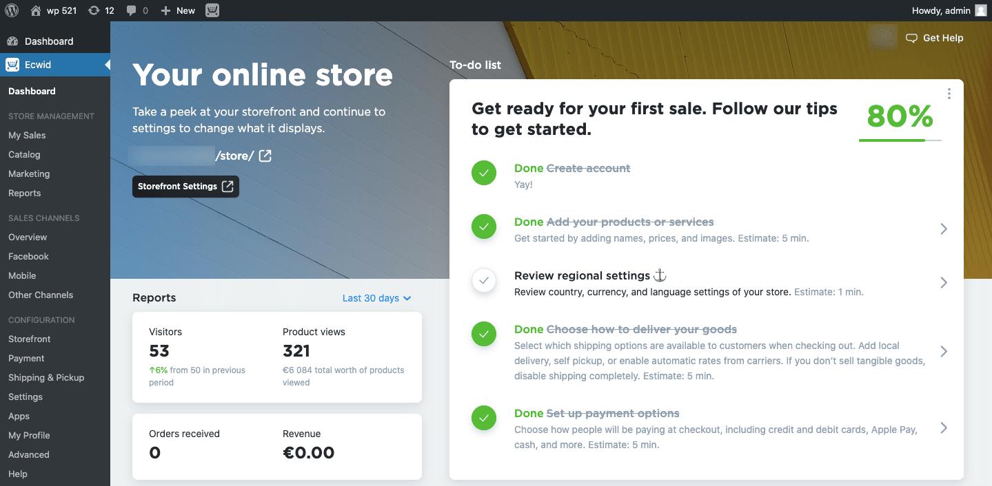 collega il tuo negozio al tuo sito WordPress in questo momento in un attimo