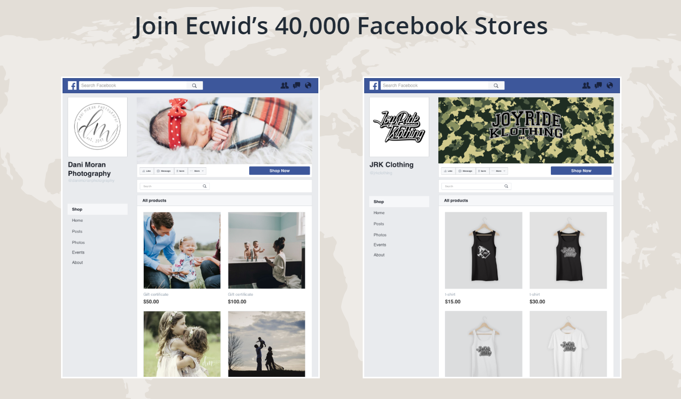 magasin Ecwid Facebook