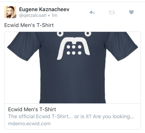 Ecwid Twitter Cards