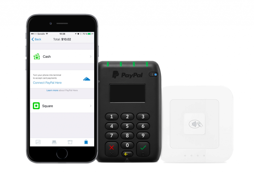 Ecwid pay pal and square