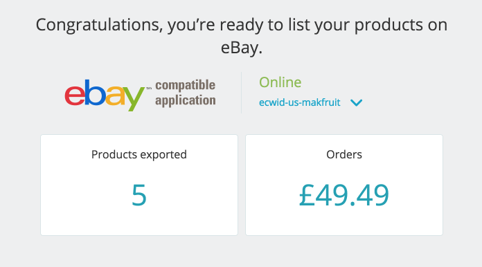 Export your product list right to eBay