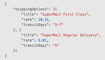 Ecwid Shipping API