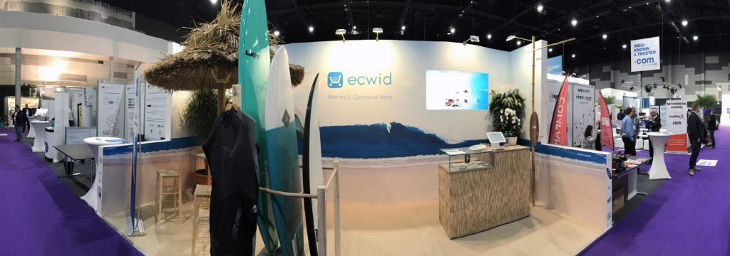 Ecwid's omnichannel booth
