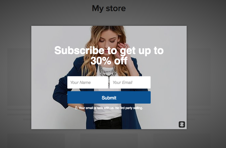 E-mail Capture Popup App