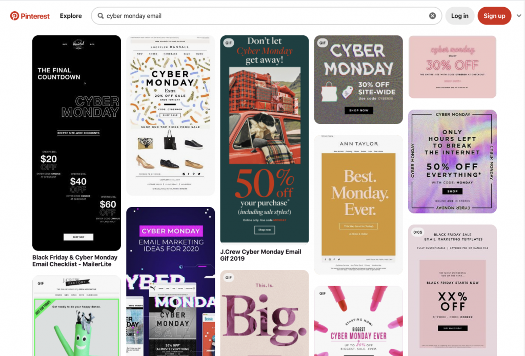 Email templates on Pinterest
