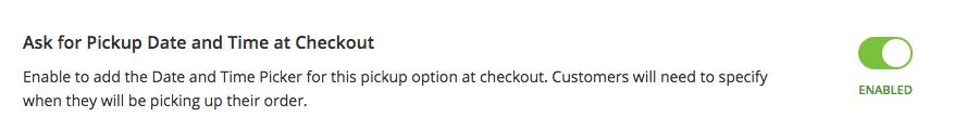 Aktifkan datepicker untuk di dalam toko pickup dalam Ecwid