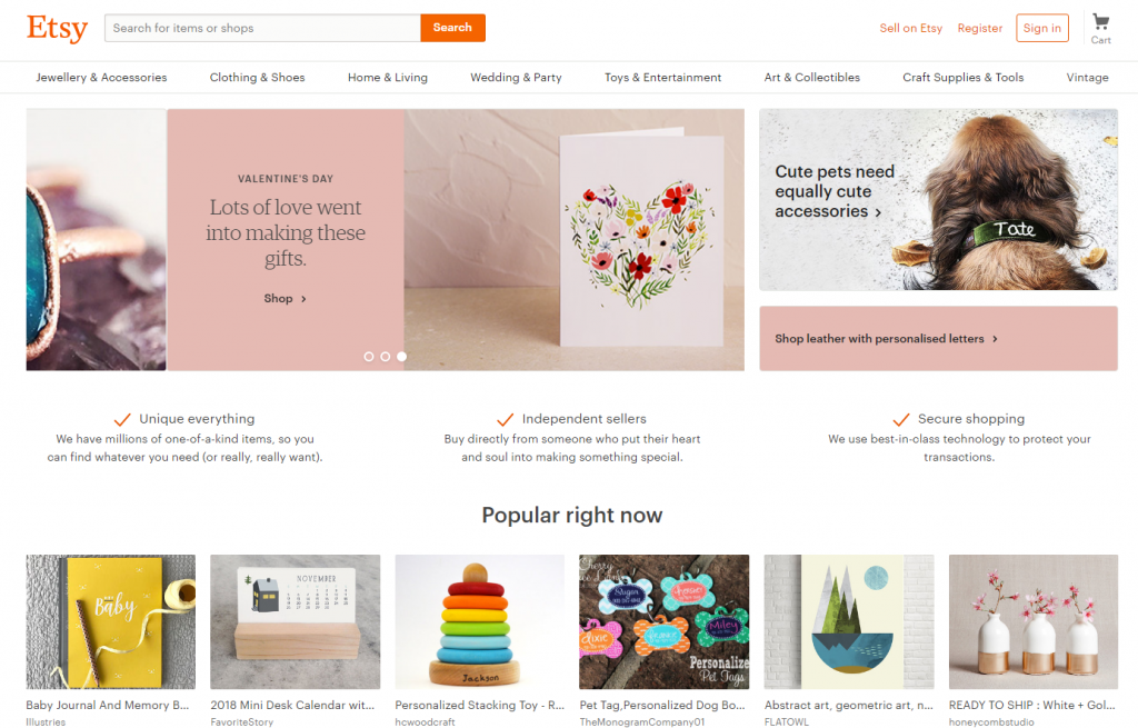 marketplace Etsy