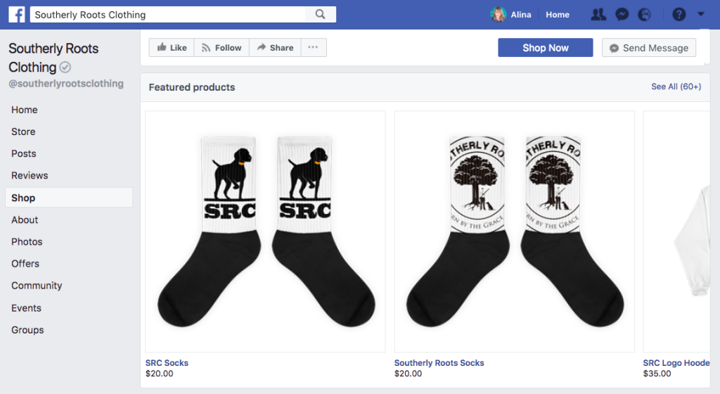 Facebook shop integration by Ecwid helps to make first sale faster
