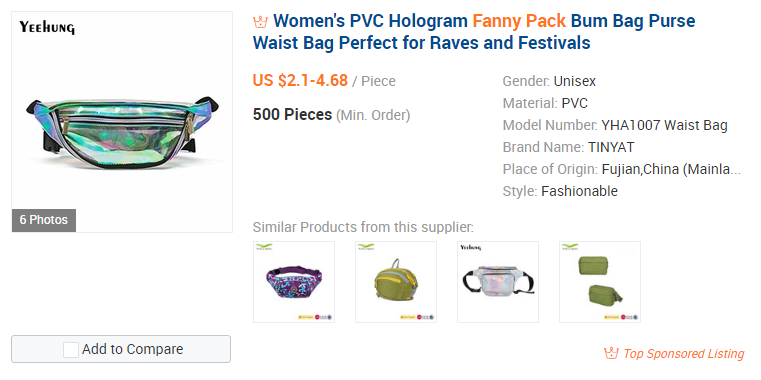 Fanny Pack sur Alibaba