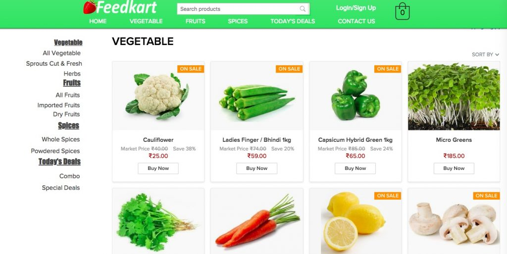 Feedkart Ecwid exemple de magasin