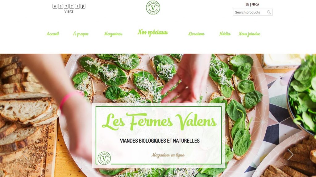 Fermes valens Ecwid store example