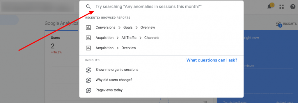 Google Analytics Answering Questions